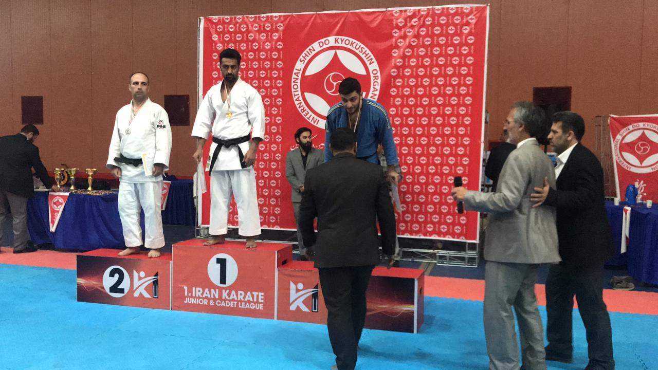 مراسم اهدا جوایز مسابقات چندجانبه کاراته