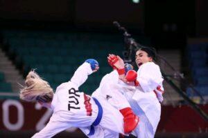 سارا بهمنیار قهرمان ارزنده کاراته کشور